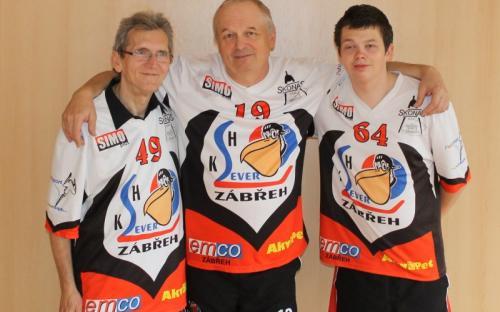Tato trojice hráčů hájila barvy zábřežského KSH