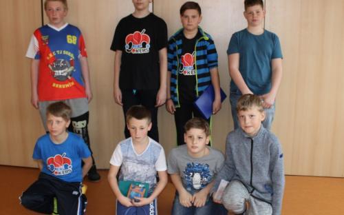 Účastníci kategorie žáků na Mistrovství ČSSH v Zábřeze